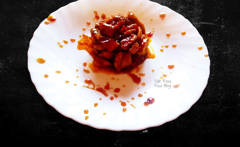 Pollo con marmellata agrodolce di peperoni