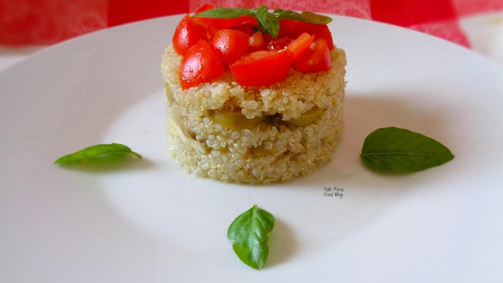 torretta di quinoa ai tre sapori