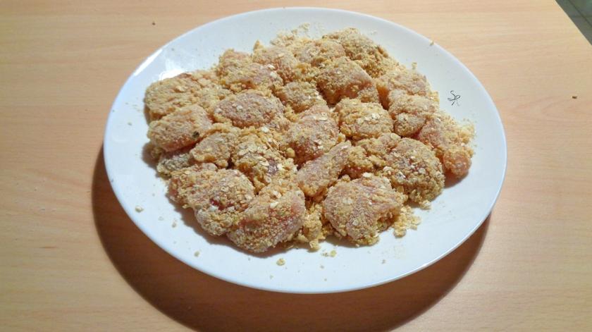 Nuggets speziati di pollo con panatura di avena