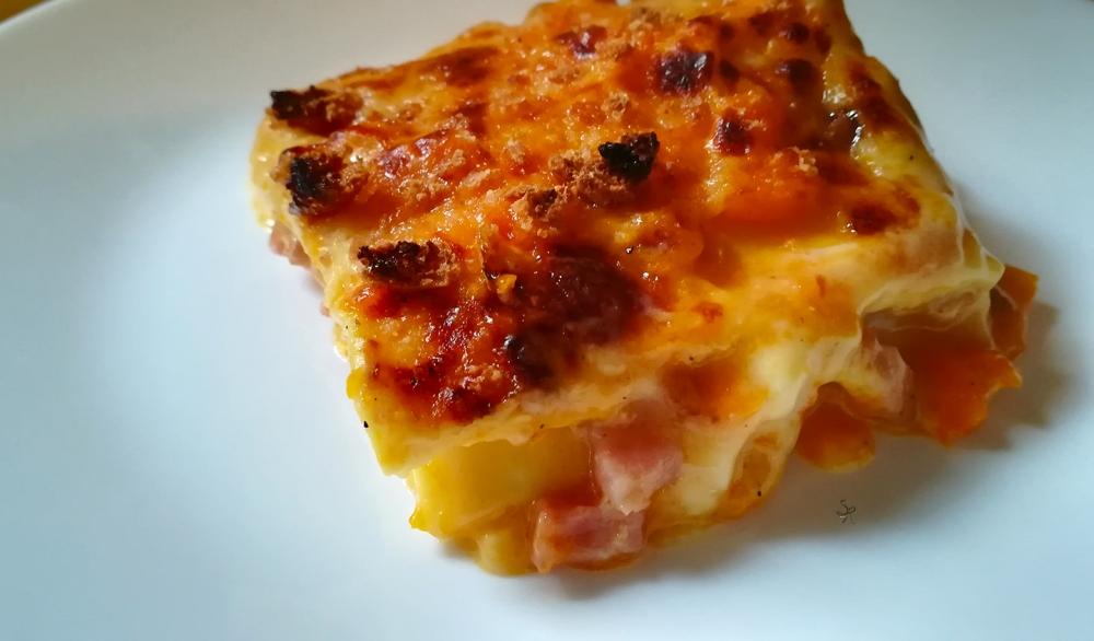 Lasagne alla zucca, amaretti e pancetta