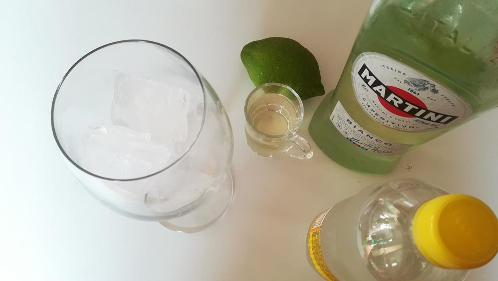 Preparazione Martini & Tonic