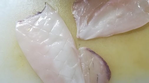 Preparazione calamari arrostiti