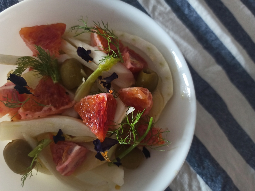 Insalata di finocchi, arance e olive